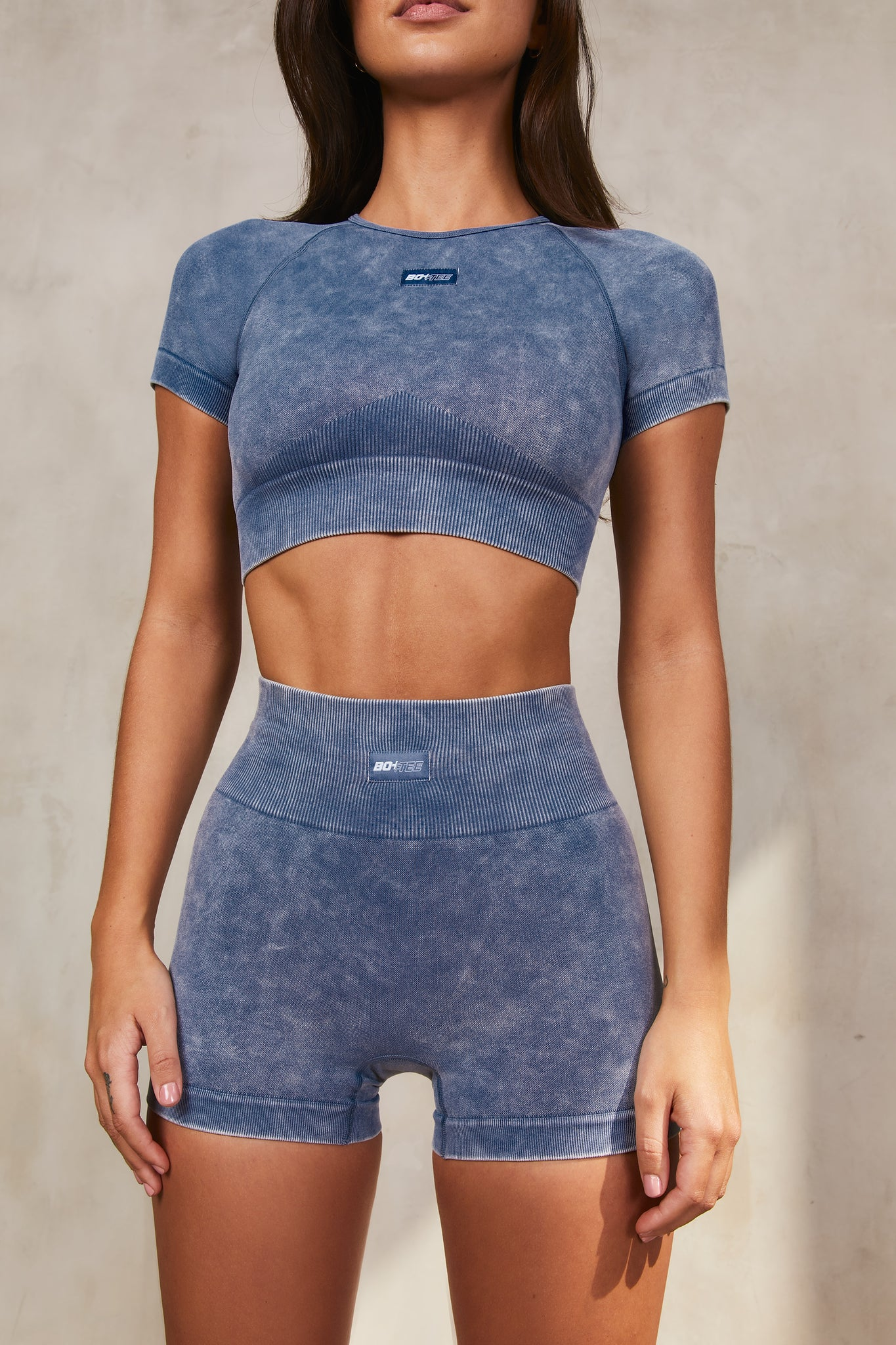 Systematic - Crop Top in  Indigo
