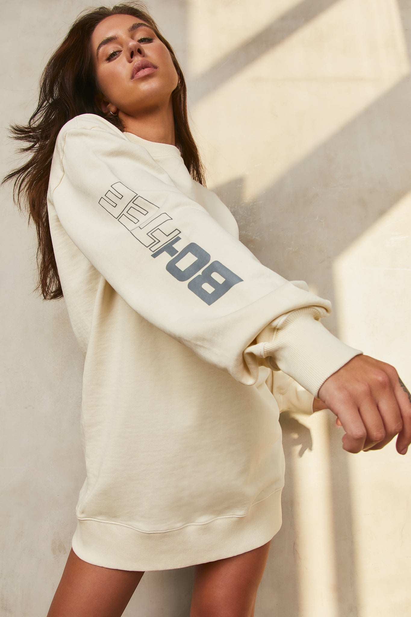 React - Sweatshirt in Cream