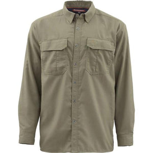 Simms M's Coldweather LS Shirt Dark Stone