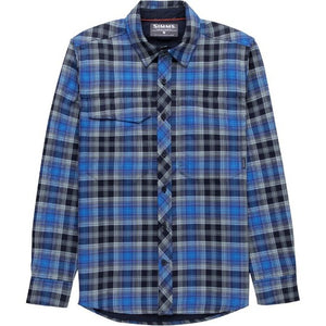 M's Guide Flannel LS Shirt Admiral Blue Plaid
