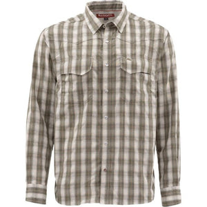 Big Sky Ls Shirt Dark Stone Plaid