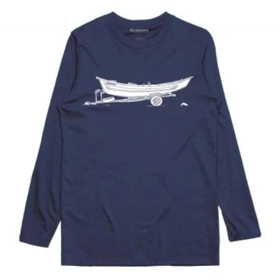 Simms Drift Ls Tech Tee Navy