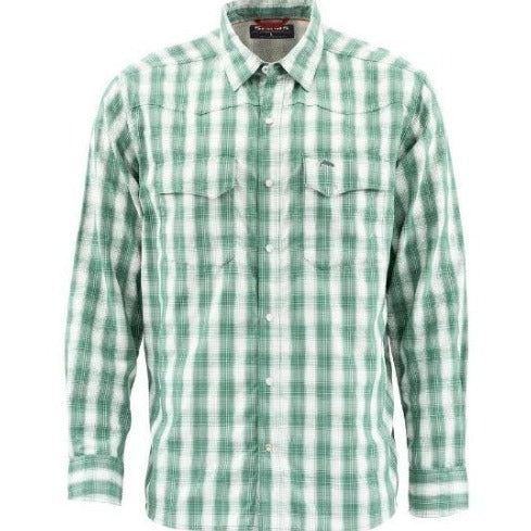 M'S Big Sky Ls Shirt Evergreen Plaid