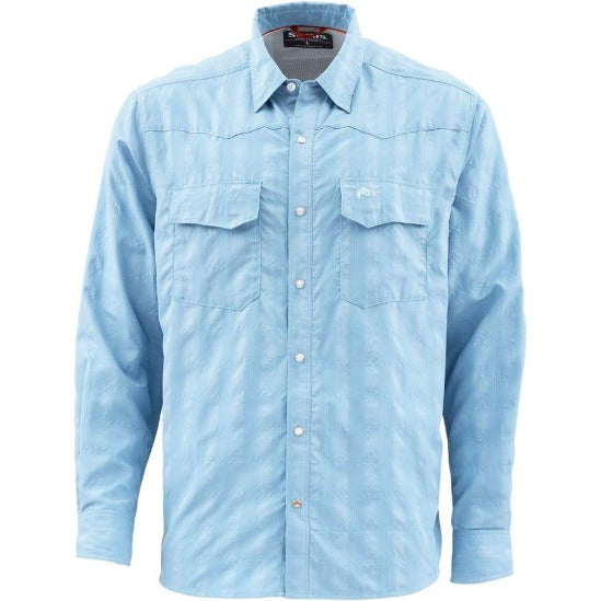 M's Big Sky Ls Shirt Faded Denim