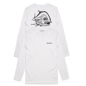 Simms Hackett Pen Permit Ls Tech Tee White