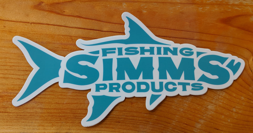 Simms WB Tarpon Decal