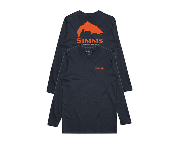 Simms USA Species LS Tech Tee Navy