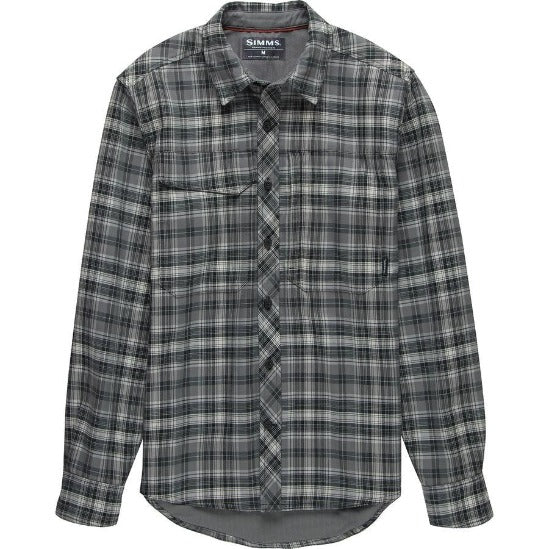 M's Guide Flannel LS Shirt Steel Plaid