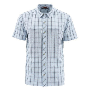 M's Stone Cold SS Shirt Mist Admiral Blue Plaid