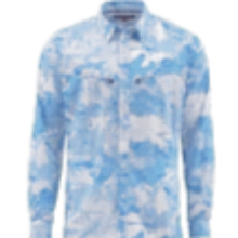 Load image into Gallery viewer, Simms Intruder BiComp Ls Shirt Cld Cmo Blue