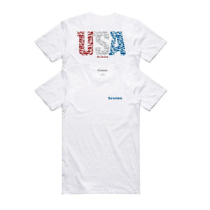 Simms Usa Species Ss Tech Tee White