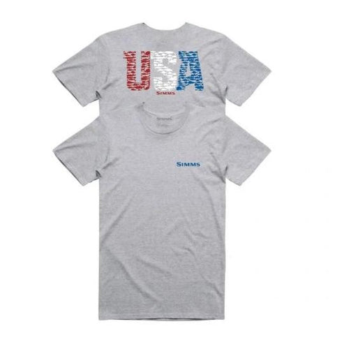 Usa Species T-Shirt Grey Hthr