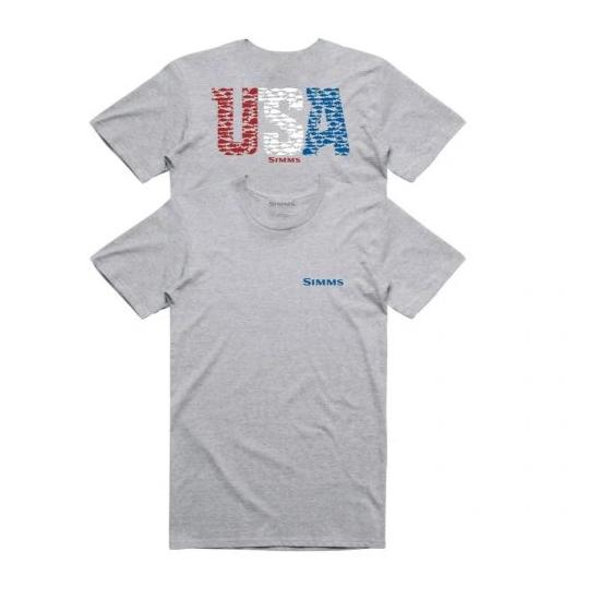 Simms Usa Species T-Shirt Grey Hthr