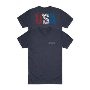 Simms Usa Species T-Shirt Strm Hthr