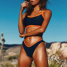 Load image into Gallery viewer, SAMANTHA dual tone sport bikini - Cinge Swimwear
