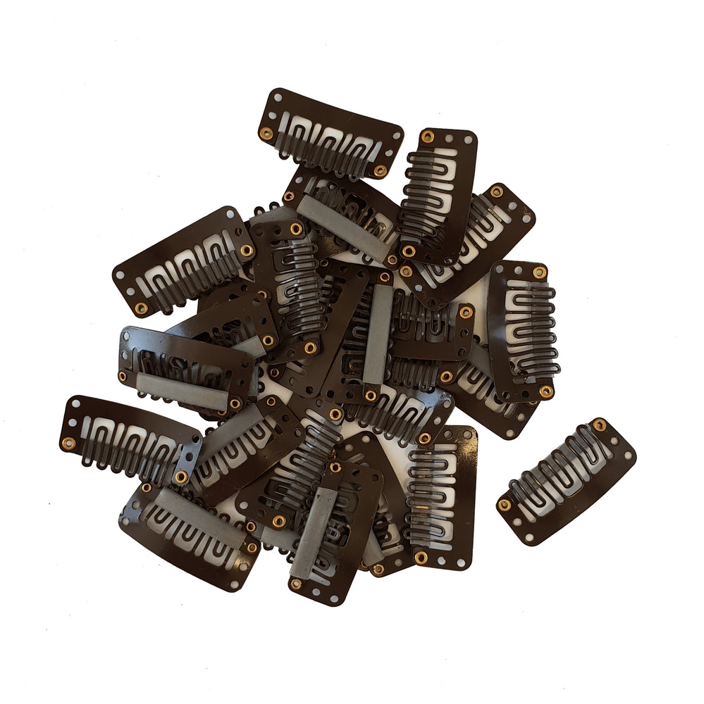 Brown Clips 25pc
