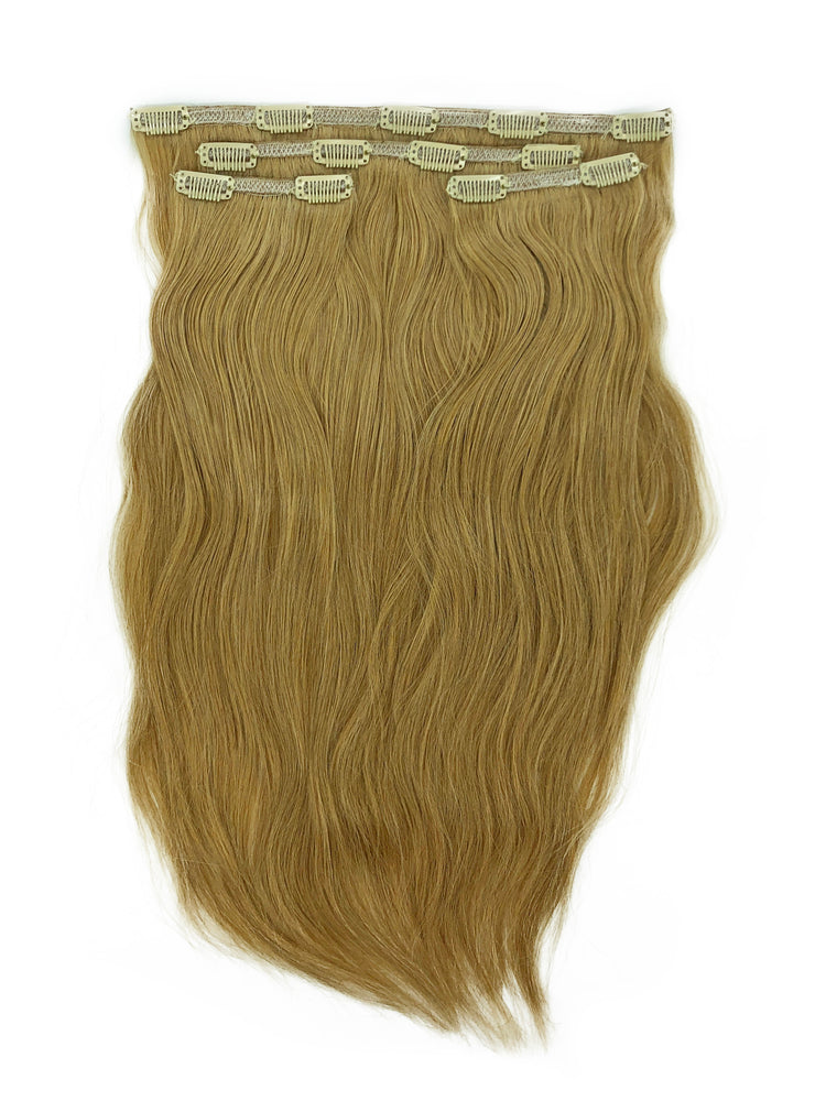 "Deluxe Clip In Set 160gm (22"") #8N Natural Dark Blonde"