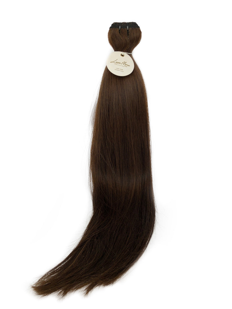 "Classic Weft 120gm (18"") #6W Warm Medium Brown"