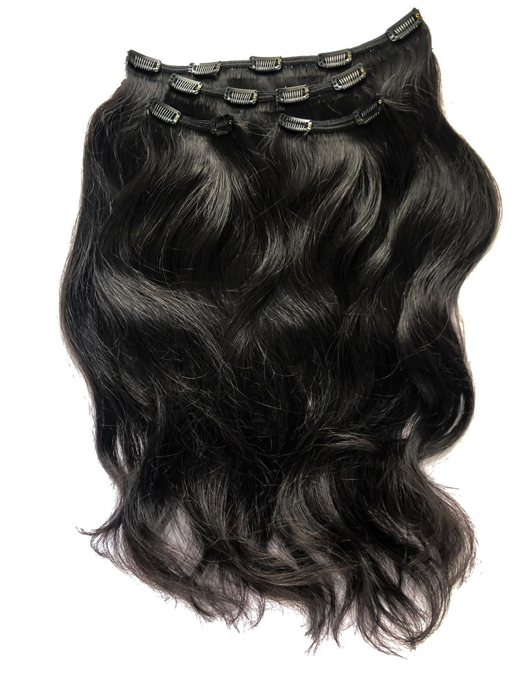 "Deluxe Clip In Set 160gm (22"") #2 Black"