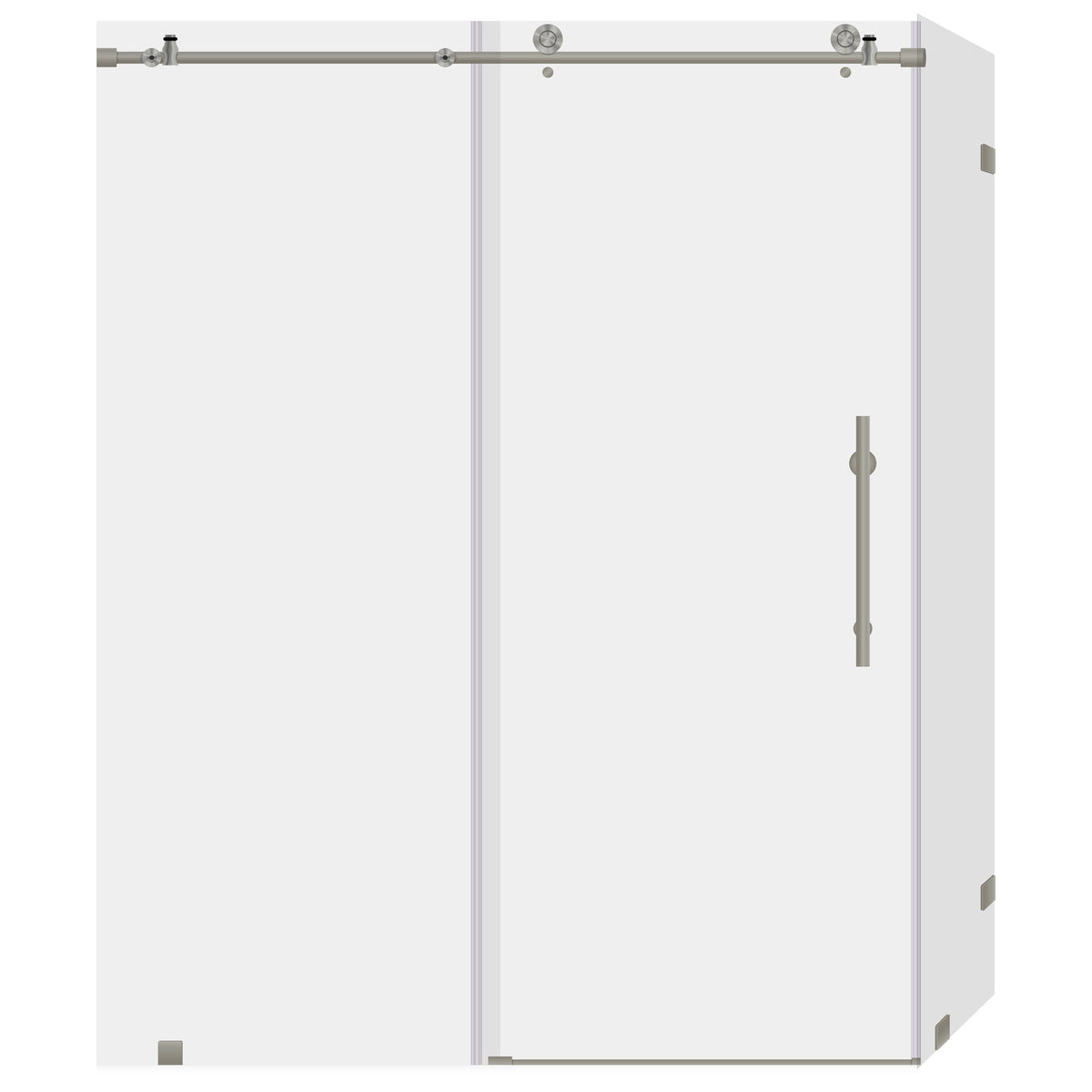 Sliding Shower Door And Enclosure With Stationary Panel 44