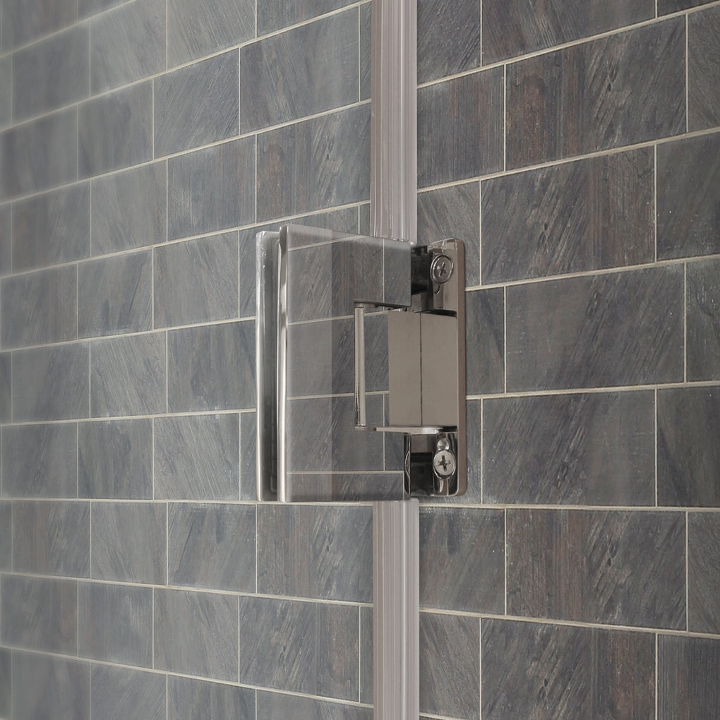 Swing-Out Shower Door with Stationary Panel 58-59W 72H Ultra E Brushed Nickel