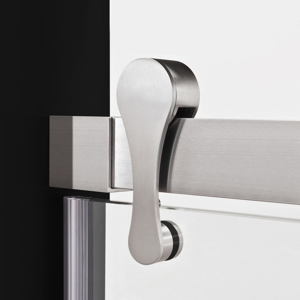 Bypass Sliding Shower Door 57 1/2-60W 76H Ultra H Brushed Nickel