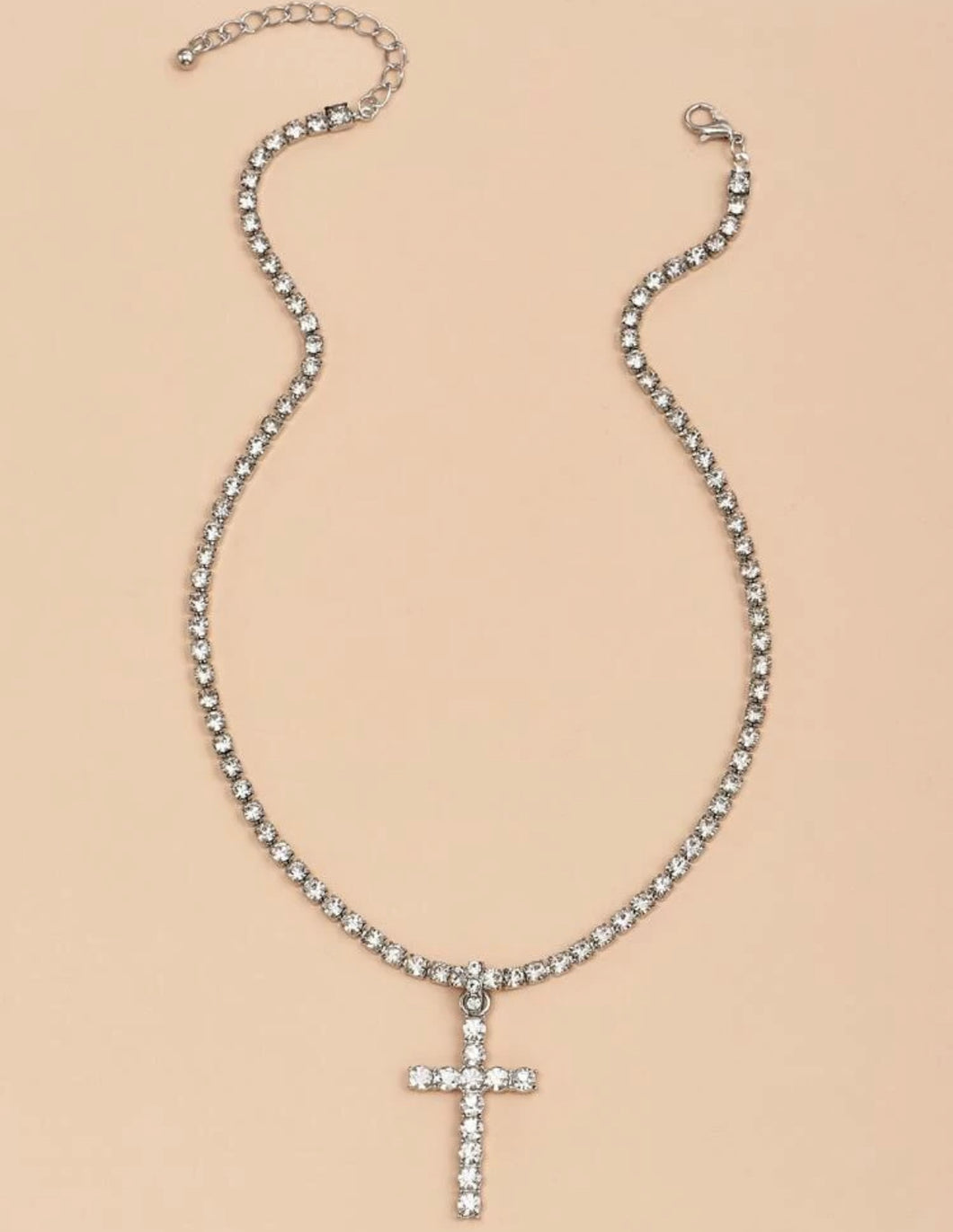 Luxed Cross Charm Necklace