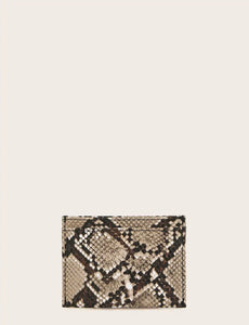Snakeskin Card Pouch
