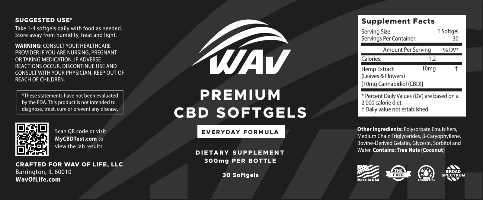 CBD Softgels - 300mg