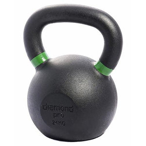 Diamond Pro 24kg (53lb) Iron Kettle Bell - Affordable Gym Equipment