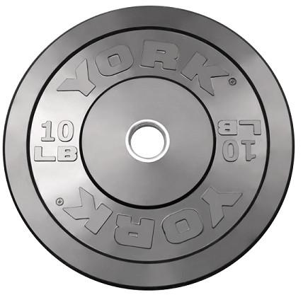 York 10lb Solid Rubber Bumper Plates - Pair - Affordable Gym Equipment