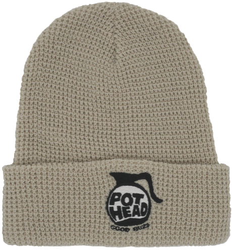 Pot Head Beanie in Wheat