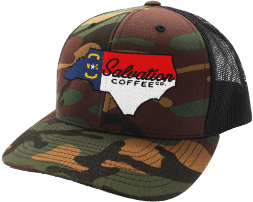 Salvation North Carolina Camo Trucker Hat