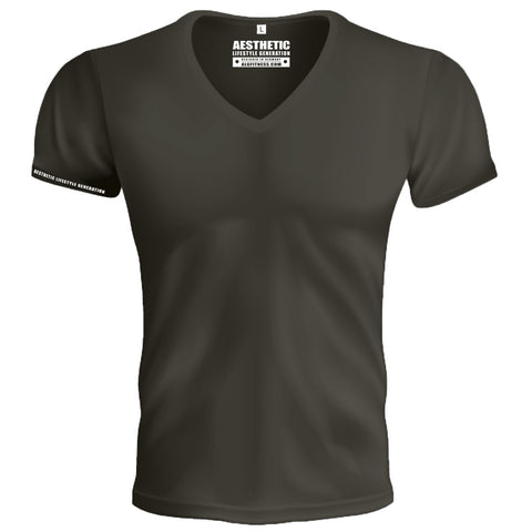 Deep V-Neck Sport Elegant Olive Brown