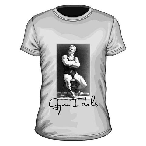 Gym Idols Eugen Sandow T-Shirt Heather Grey