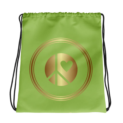 Lunar Grrr Logo Drawstring bag green