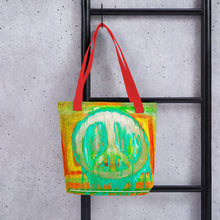 Load image into Gallery viewer, Peace Out? Tote bag
