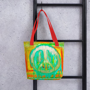 Peace Out? Tote bag