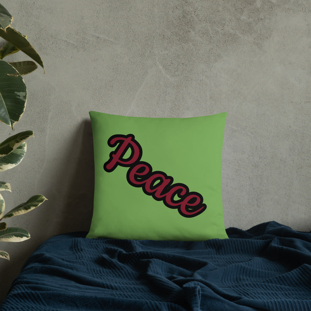 Peace Butterfly Throw Pillow