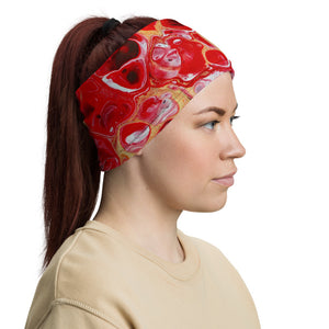 Green Red Neck Gaiter Face Cover Headband