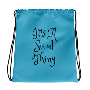 It's a Soul Thing Drawstring bag blue