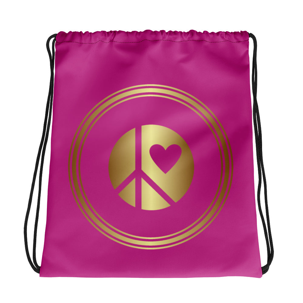 Lunar Grrrs Logo Drawstring bag purple