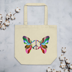 Peace Butterfly Eco Tote Bag