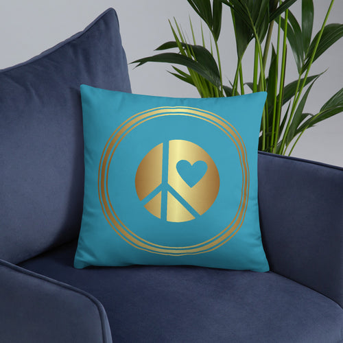 Lunar Grrrs logo Throw Pillow