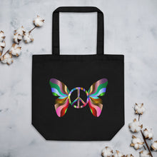 Load image into Gallery viewer, Peace Butterfly Eco Tote Bag