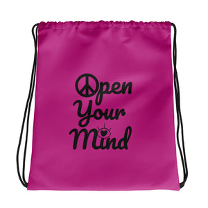 Open Your Mind Drawstring bag pink