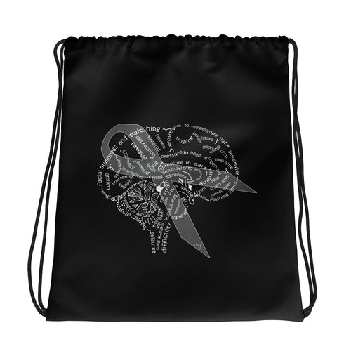 Brain Tumor Awareness Drawstring bag
