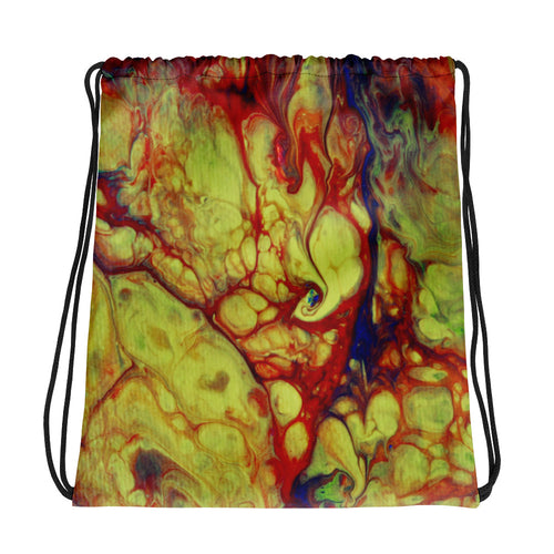 Fire Swirl Drawstring bag