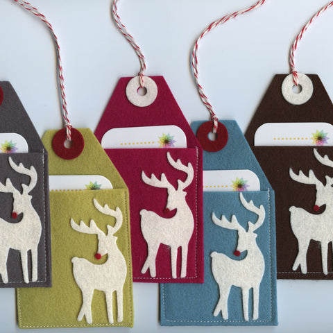 Gift Card Pockets: Reindeer