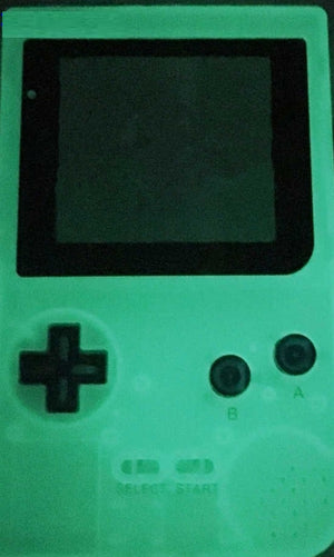 GBP ( gameboy pocket ) Replacement shell transparent GREEN glow in dark